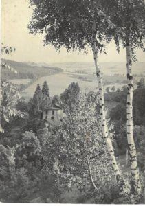 Hořákov 1953 pohled na zámek a Čachrov